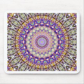 Purple Pattern Mandala Kaleidoscope Mouse Pad