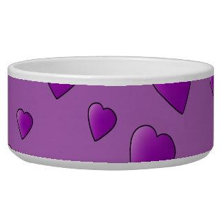 Purple Pattern of Love Hearts. Bowl