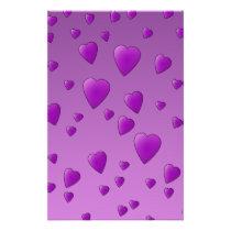 Purple Pattern of Love Hearts. Flyer
