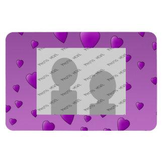 Purple Pattern of Love Hearts. Magnet