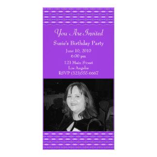 purple pattern party card