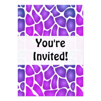 Purple Pattern Personalized Announcement