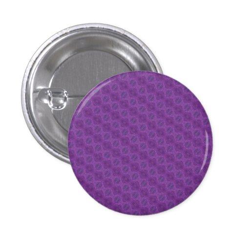 Purple pattern pinback buttons