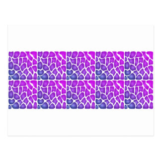 Purple Pattern Post Cards