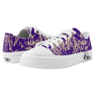 Purple Pattern Printed Shoes