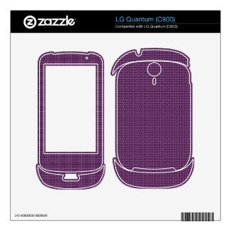 Purple pattern LG quantum decals