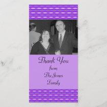 purple pattern thank you card