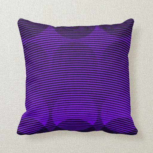Purple Pattern Throw Pillow