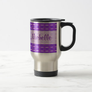 purple pattern travel mug