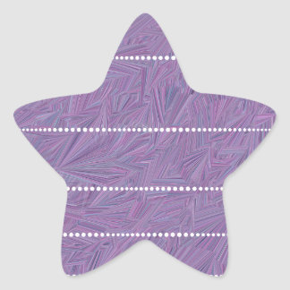 Purple Pattern with White Dotted Lines Star Sticker