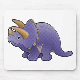 Purple Patterned Dino Mouse Pad