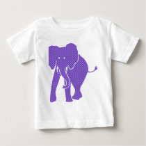 Purple Patterned Pachyderm Elephant Baby T-Shirt