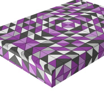 Art Themed Purple Patterned Triangles Canvas Print