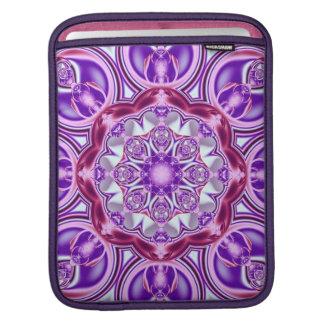 Purple Patterns Kaleidoscope iPad sleeve