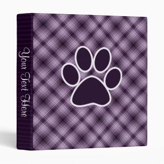 Purple Paw Print 3 Ring Binder