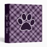 Purple Paw Print Binders