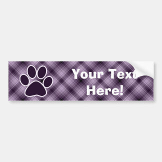 Purple Paw Print Bumper Sticker