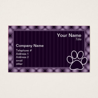 Purple Paw Print Business Card