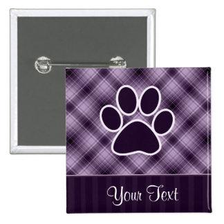 Purple Paw Print Button