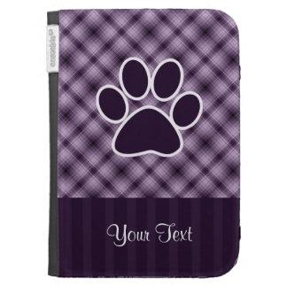 Purple Paw Print Kindle Folio Cases