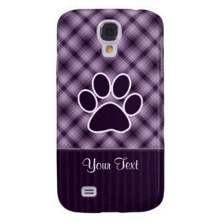 Purple Paw Print Samsung Galaxy S4 Covers