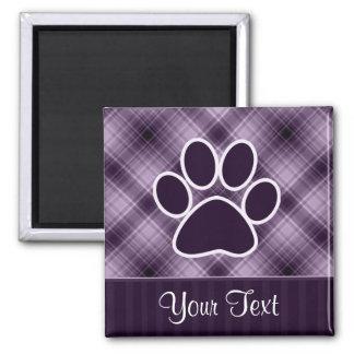 Purple Paw Print Magnet