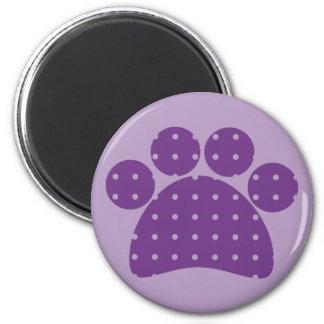 Purple Paw Print Magnets