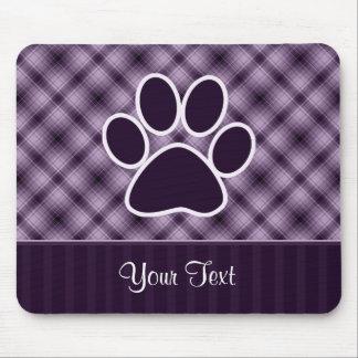 Purple Paw Print Mouse Pad
