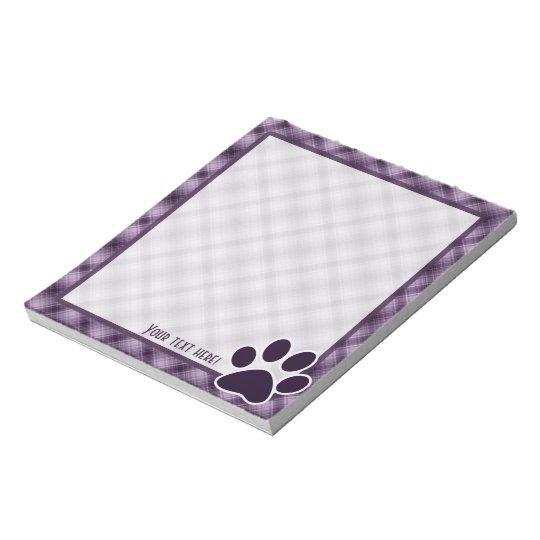 Purple Paw Print Notepad