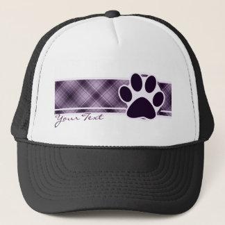 Purple Paw Print Trucker Hat