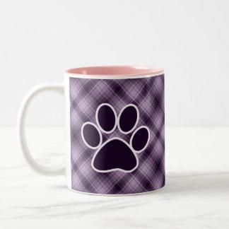 Purple Paw Print Two-Tone Coffee Mug