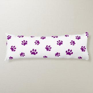 Purple Paw Prints Pattern Body Pillow