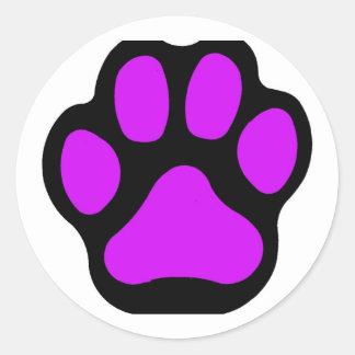 Purple Paw Stickers