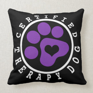 Purple Paw Therapy Dog Snuggling Pillow