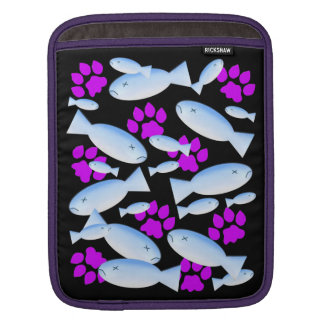 Purple Paws and Blue Fish Sleeve For iPads