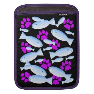 Purple Paws and Blue Fish iPad Sleeves