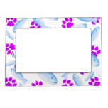 Purple Paws And Blue Fish Magnetic Photo Frame