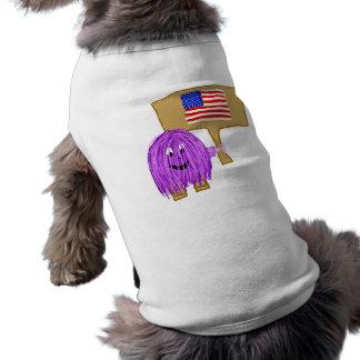 purple peace America Dog Tee