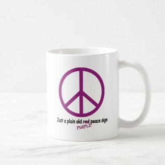 Purple Peace Classic White Coffee Mug