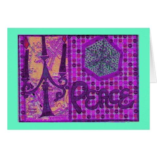 Purple Peace Collage Cards
