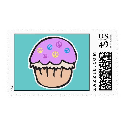 Purple Peace Cupcake Stamps