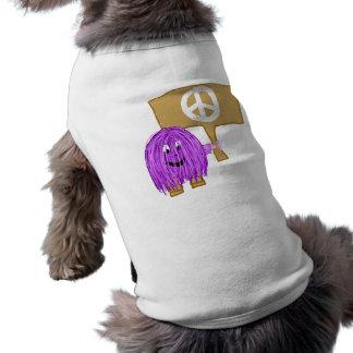 purple peace doggie t shirt