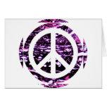 Purple Peace Greeting Cards