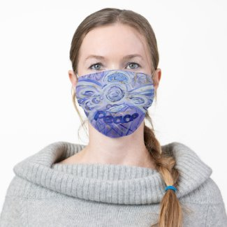 Purple Peace Guardian Angel Art Custom Face Masks