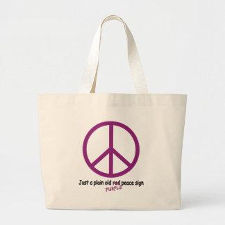 Purple Peace Jumbo Tote Bag