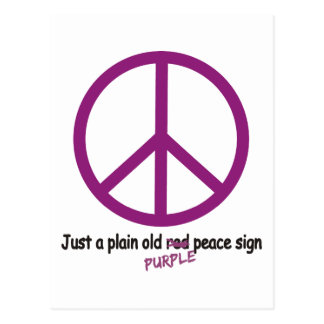 Purple Peace Postcard