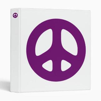 Purple Peace Sign Binder