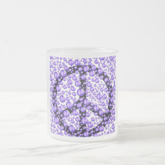 Purple Peace Sign Bubbles Coffee Mugs