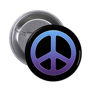 Purple Peace Sign Button