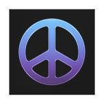 Purple Peace Sign Canvas Print